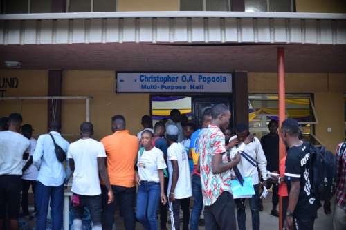 The ASAP team was at the Federal College of Education (FCE) Akoka, Yaba, Lagos, and students were already waiting outside the Christopher O. A. Hall.