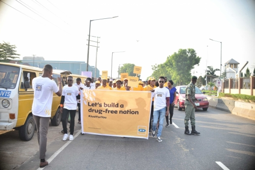 Soon we were ready to show Lagos why the #MTNASAP Walk was worth the gist.