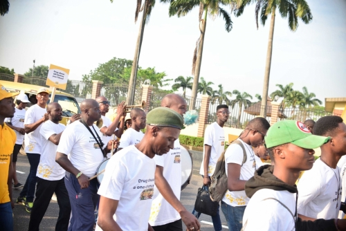 We were out and about on the streets of Alausa, Lagos, in no time.