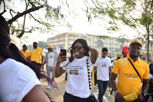#MTNASAP Volunteers were excited to join in the walk for a #drugfree nation.