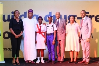 As we wrapped up, we had to freeze some cool moments like when the representatives of the Girls Brigade of Nigeria and Sheriff Guards of Nigeria met the Executive Secretary, MTN Foundation, Nonny Ugboma; Chairman, MTN Foundation, Prince Julius Adelusi-Adeluyi and MTN Foundation Director, Dennis Okoro