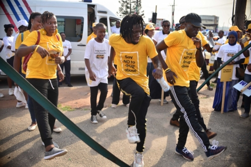 At the Allen roundabout we were able to rest, refuel, dance and take pictures and selfies to celebrate those who have led a #drugfree life.
