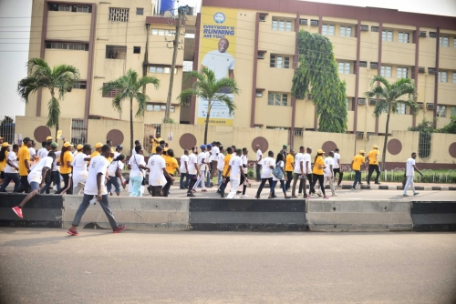 Soon we were back at the Ndubuisi Kanu Park to end the #MTNASAP walk.