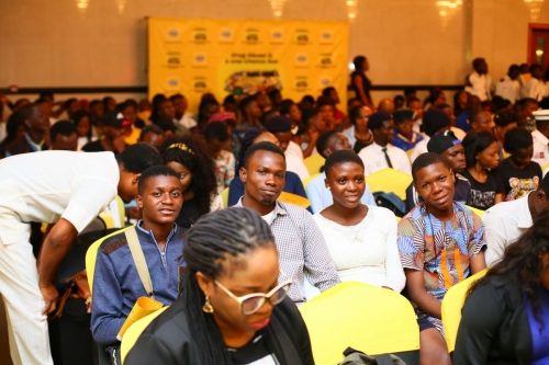 Hundreds of young Nigerians gathered to find out what the 'Anti Substance Abuse' talk was all about.