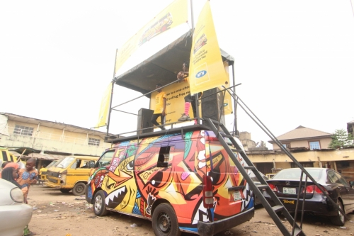 And we got our first official glimpse of the now famous #1Chance  bus! The colours even had people talking from day one.